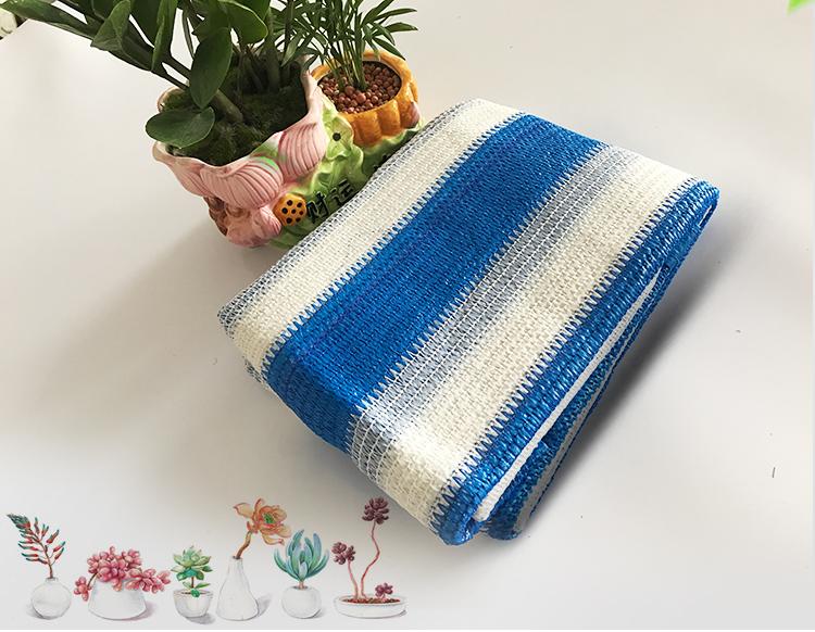 蓝加白包边透气遮阳网
